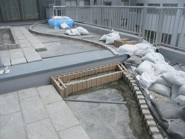 M様邸(東京都江東区)屋上庭園工事の画像2