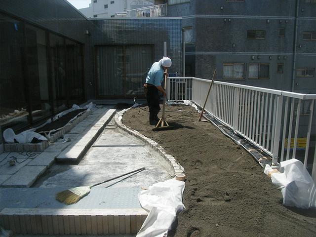 M様邸(東京都江東区)屋上庭園工事の画像4