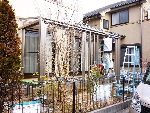 O様邸(千葉県佐倉市)ガーデンルーム工事の画像2