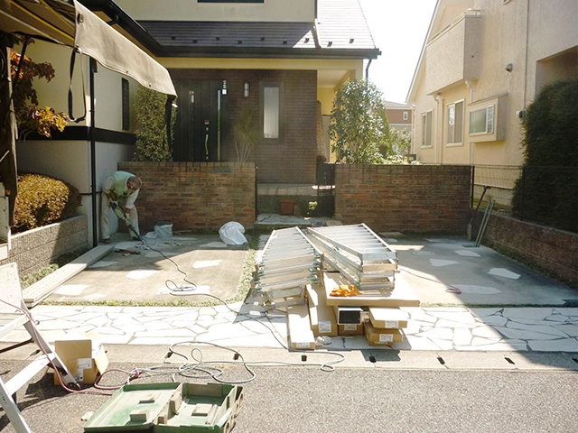 A様邸(千葉県大網白里市)カーポート工事の画像2