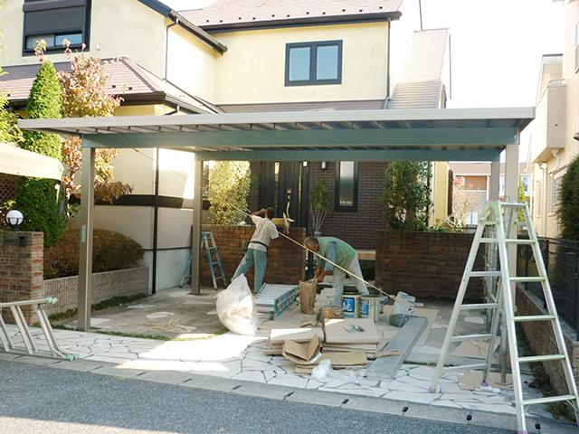 A様邸(千葉県大網白里市)カーポート工事の画像3