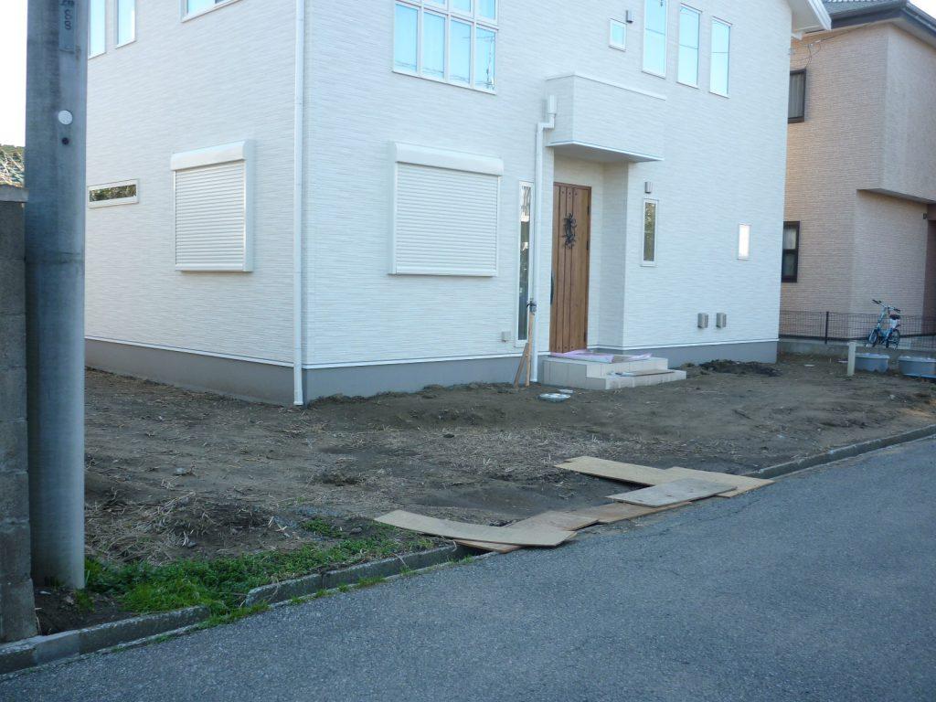 U様邸(千葉県茂原市)外構工事のbefore画像