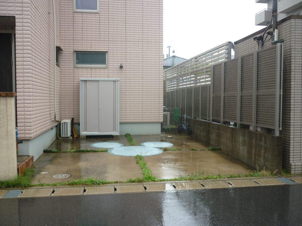 K様邸(千葉県浦安市)外構工事のbefore画像